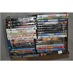 One tray lot of assorted DVD movies