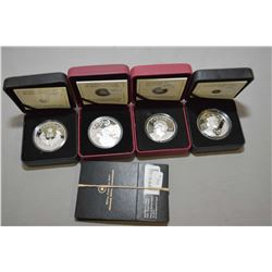 """Four Royal Canadian mint 2012 fine silve $20 coins including two """"The Queen's Diamond Jubilee"""" one w"""
