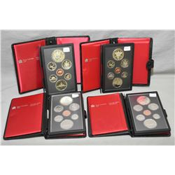 Four Royal Canadian Mint double dollar proof sets including a 1979 Sail to the Great lakes, a 1980 A