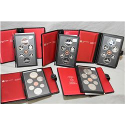 Five Royal Canadian Mint double dollar proof sets including a 1978 Commonwealth games set, two Toron