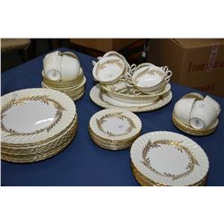 "Minton ""Golden Symphony H-4919"" bone china including setting for eight of dinner, luncheon and bread"
