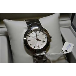 Brand new jewellery store inventory gent's Swiss made Concord wrist watch with calendar, stainless s