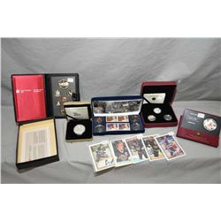 Selection of Royal Canadian mint collectible coins sets including 1984 Toronto Voyageur proof set, 1