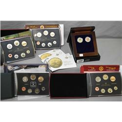 Selection of Royal Canadian mint specimen sets including 2004 Canada Goose, 2010 Wild life series-Ly
