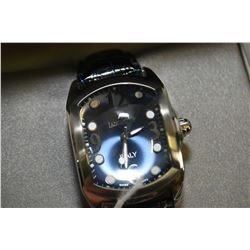 Brand new jewellery store inventory gent's Italian made Lancaster wrist watch with steel case and sa