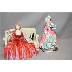 "Two Royal Doulton figurines including ""Sweet and Twenty"" HN1298 and ""Spring Morning"" HN1922"