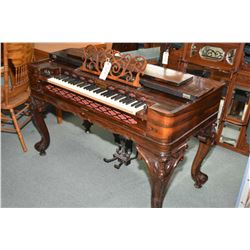 Antique Victorian piano forte style pump organ, no longer operational but is still a beautiful piece