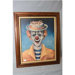 "Two framed Red Skelton clown prints including ""Clown with Candy Cane"" and ""Girl Clown"" both pencil s"