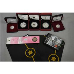 "Selection of Royal Canadian mint coins including 2011 fine silver $10 ""Highway of Heroes"", 2008 ster"