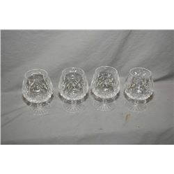 """Four Waterford crystal """"LIsmore"""" brandy snifters"""