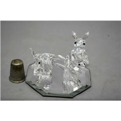 Selection of Swarovski crystal including elephant and Kangroo with pouched baby