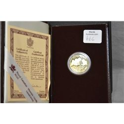 Royal Canadian mint 1990, $100 1/4 troy ounce fine gold coin featuring a portrait of an Inuit writin
