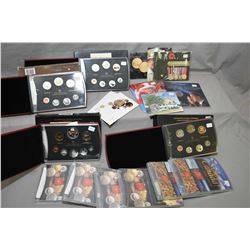 Selection of Royal Canadian mint collector's coins including 2005, two 2009 and a 2012 boxed and cas