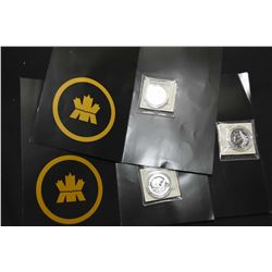 Three Royal Canadian mint 2013 $10 fine silver coins including Beaver, The Inukshuk and The Polar be