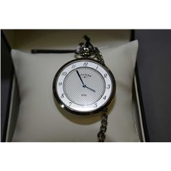 Brand new jewellery store inventory gent's Swiss made Rotary pocket watch with chain. Retails $450.0