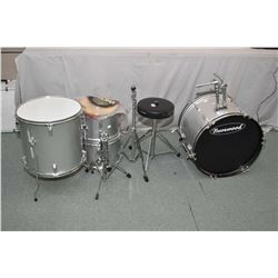 Partial drum kit made by Burswood