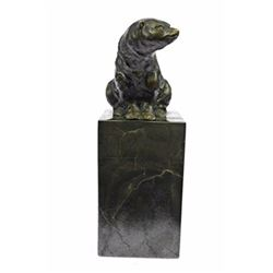 Polar Bear Eskimo Wildlife Bronze Artwork Sculpture