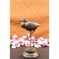 Exotic Brazilian Bird Statue on Marble Base Figurine