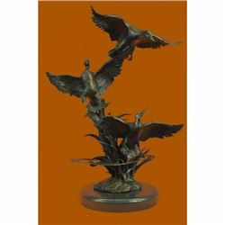 American Artist Ducks Wildlife Bronze Sculpture