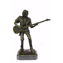 Rick James Guitar Player Bronze Sculpture
