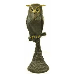 Owl Bird Wildlife Bronze Sculpture