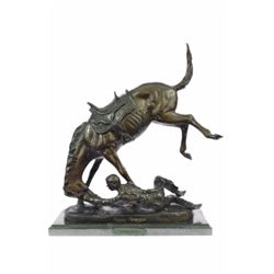 Wicked Pony Bronze sculpture on marble base