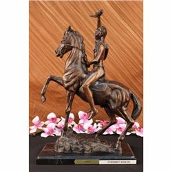 The Scalp  Man on Horse Cowboy Bronze  Statue