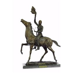 Indians Western Bronze Sculpture