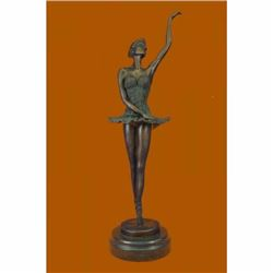 "16"" Well Trained Ballerina Bronze Statue"