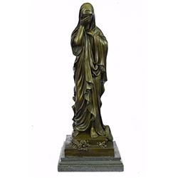 Virgin Mary Religion Bronze Sculpture