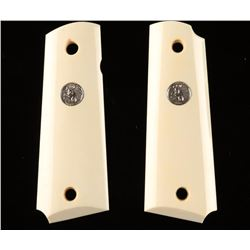 Pair of Colt Medallion Ivory Grips