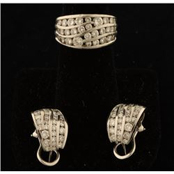 Dazzling Diamond Ring & Earrings Set