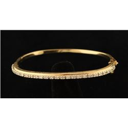 Stunning Diamond & Gold Bangle