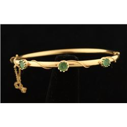 Lovely Emerald & Gold Bangle