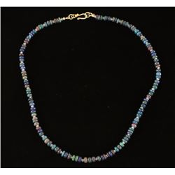 Ethiopian Smoked Opal Necklace