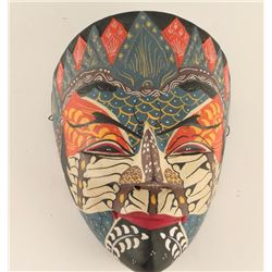 Vintage African Hand Painted Ceremonial Face Mask