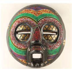 Vintage African Ceremonial Beaded Face Mask