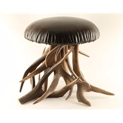 Red Stag Antler Stool