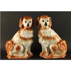 Collection of 2 Porcelain King Charles Figurines