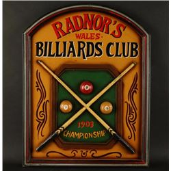 Radnor's Wales Billiards Club Sign