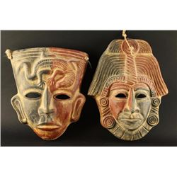 Ceramic Mexican Masks