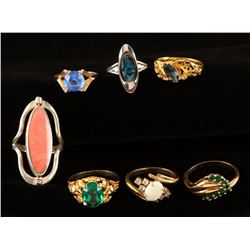 Lot of 7 Ladies Cocktail Rings