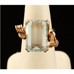 Ladies Custom Aquamarine Ring