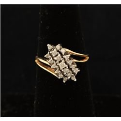 Ladies Moissanite Cluster Ring