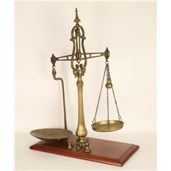 Antique Brass Balance Beam Scale