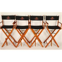 Collection of 4 Budweiser Director's Chairs