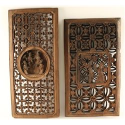 Ching Dynasty Chinese Wood Panels