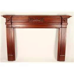 Solid Mahogany Fireplace Mantel