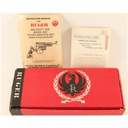 Ruger Security-Six Red Cardboard Box