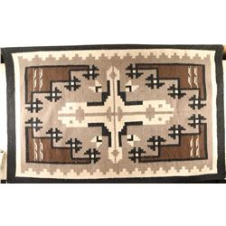 Early Native American Navajo Two Grey Hills Rug